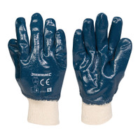 Silverline Full Coat Interlock Nitrile Gloves