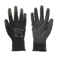 Silverline Black Palm Gloves