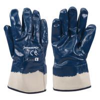 Silverline Jersey Lined Nitrile Gloves