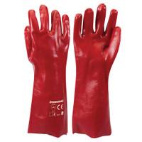 Silverline Red PVC Gauntlets