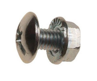 Tray Bolts & Serrated Flange Nuts - Bright Zinc Plated