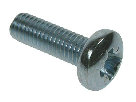 Pozi Pan Head Machine Screws - Bright Zinc Plated