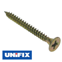 Unifix Bugle Head Drywall Screws - Zinc & Yellow Passivate (Pack of 200)