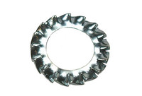 External Serrated Lock Washers - Bright Zinc Plated
