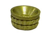 Turned Pattern Screw Cup Socket - Brass