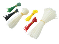 Faithfull Assorted Coloured Cable Ties - Barrel Pack of 400