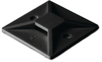 Black Cable Tie Adhesive Bases - Pack of 100