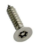 6-Lobe Torx Pin Csk Self-Tapping Security Screws - Stainless Steel A2
