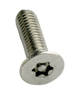 6-Lobe Torx Pin Csk Security Machine Screws - Stainless Steel A2