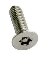 6-Lobe Torx Pin Csk Security Machine Screws - Stainless Steel A2