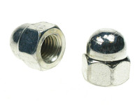 Hex Dome Nuts - Bright Zinc Plated