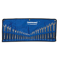 Silverline Metric & Imperial Combination Spanner Set - 24 piece