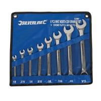 Silverline Whitworth Combination Spanner Set - 8 piece