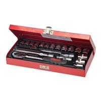 "Silverline 3/8"" Drive Metric Socket Wrench Set - 20 piece"