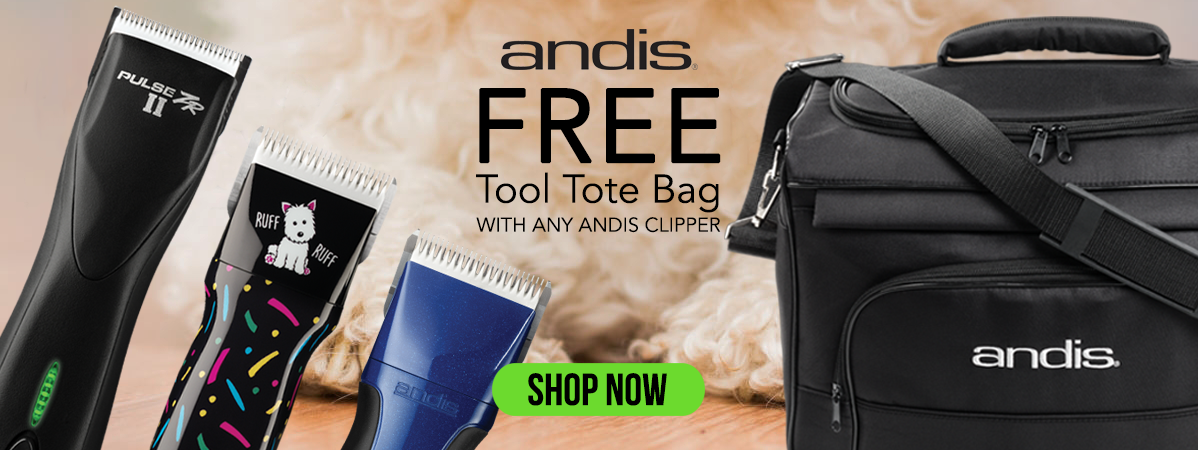 Free Andis Tool Tote Bag with any Andis Clipper