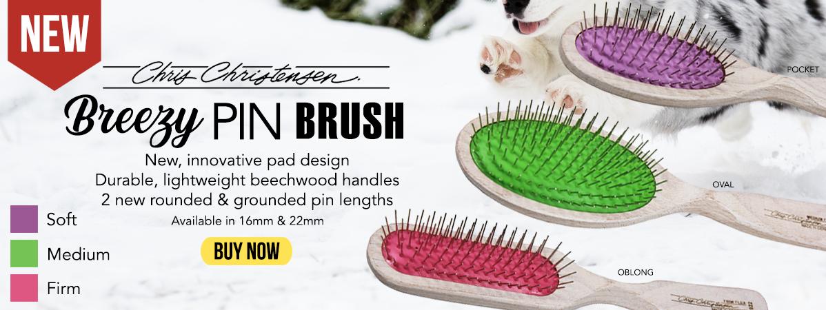 New Chris Christensen Breezy Pin Brushes