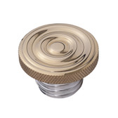 Custom Gas Cap - Brass Rippled Top - Aluminum Thread - Vented