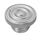 Custom Aluminum Gas Cap - Rippled Top - Vented