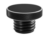 Custom Aluminum Gas Cap - Flat Top - Black - Vented