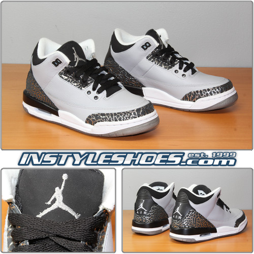 Air Jordan 3 GS Wolf Grey 398614-004