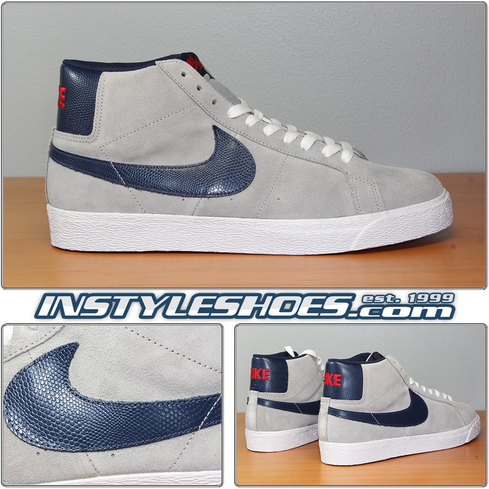 16b30b177956 Nike Blazer SB Matte Silver Navy 310801-003