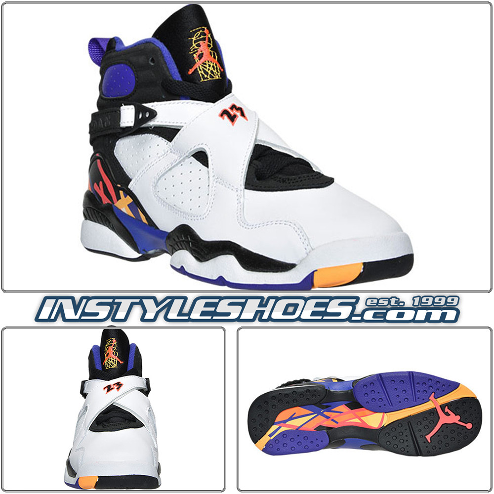 5d6bfaccd3f Air Jordan 8 GS Three Peat 305368-142 Grade School. All items on  InstyleShoes.com are Guaranteed Authentic. For shipping timeframe: Please  see the ...