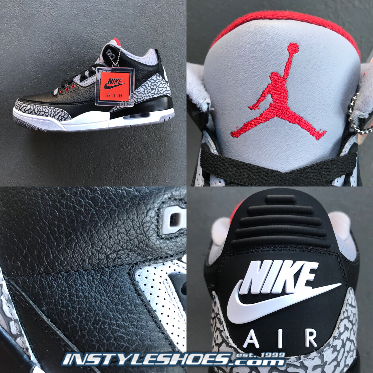 uk availability d8413 43e0e 2018 Air Jordan 3 OG Black Cement 854262-001
