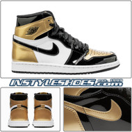 Air Jordan Retro 1 High OG NRG Color: Black/Black-Metallic Gold-White Style Code: 861428-007 Release Date: February 16, 2018 Gold Toe Top 3
