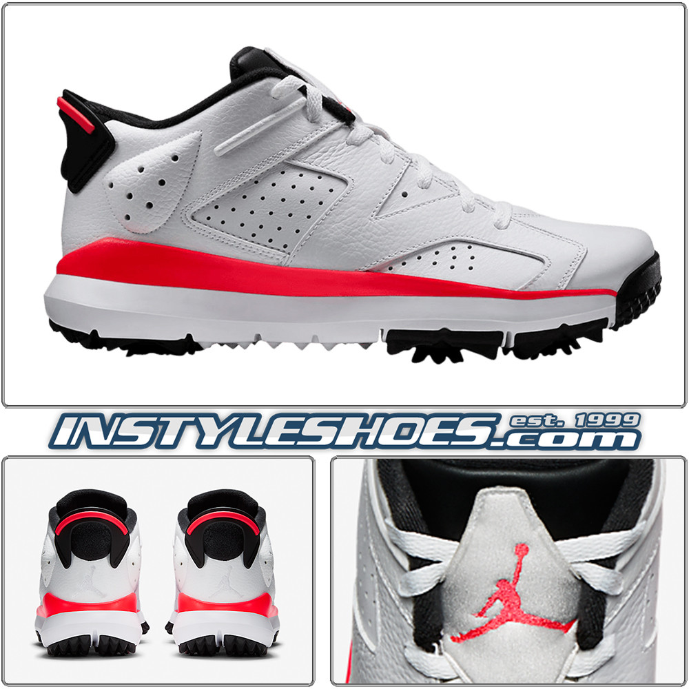 99bdb8cf987 Air Jordan 6 Low Golf White Infrared 800657-123. Image 2. All items on  InstyleShoes.com are Guaranteed Authentic. For shipping timeframe: Please  see the ...
