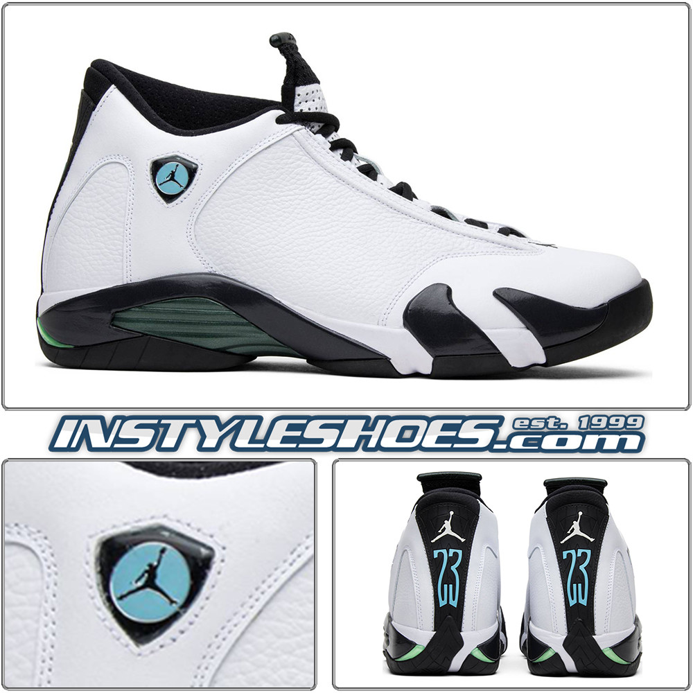 c0b7b5dead8 Air Jordan 14 Oxidized Green 487471-106. Image 2. All items on  InstyleShoes.com are Guaranteed Authentic. For shipping timeframe: Please  see the description ...