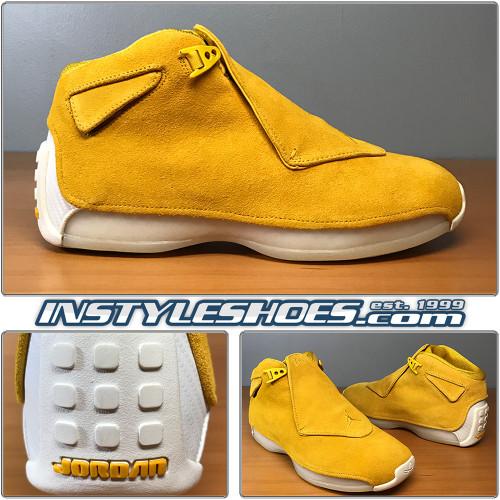 Air Jordan 18 Yellow Ochre AA2494-701