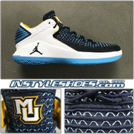 Air Jordan 32 Low Marquette PE Navy White