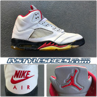 Air Jordan 5 OG White Black 4383