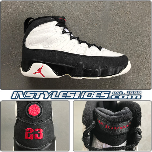 Air Jordan 9 OG White Black 130169-100