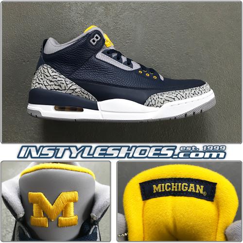 Air Jordan 3 Michigan PE