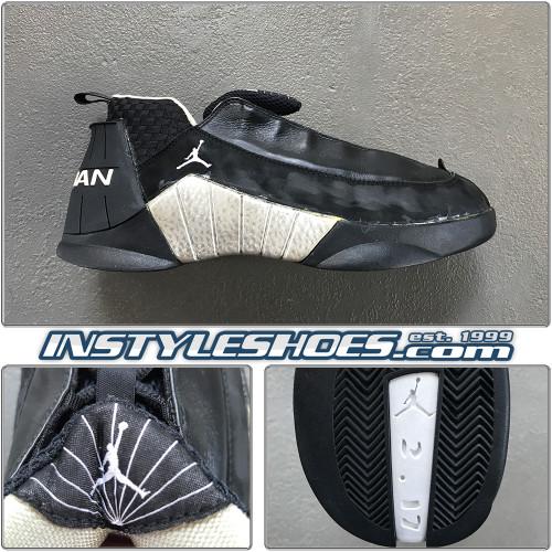 Air Jordan 15 Low Black Metallic Silver