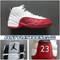 1997 Air Jordan 12 White Varsity Red