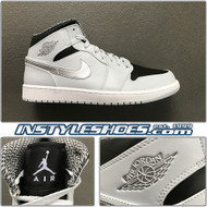 2019 Air Jordan 1 Mid Wolf Grey 554724-032