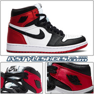 Wmns Air Jordan 1 Satin Black Toe CD0461-016