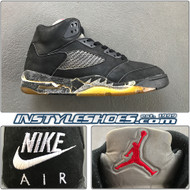1990 Air Jordan 5 Black Metallic Silver