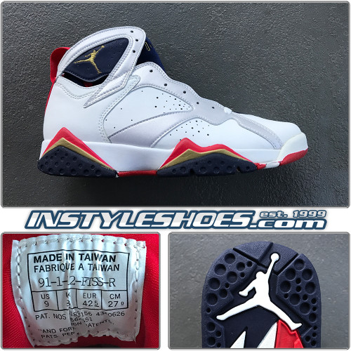 1992 Air Jordan 7 Olympic Sales Sample