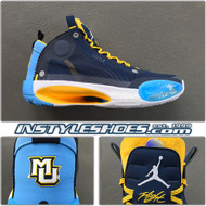 Air Jordan 34 Marquette Away PE Promo