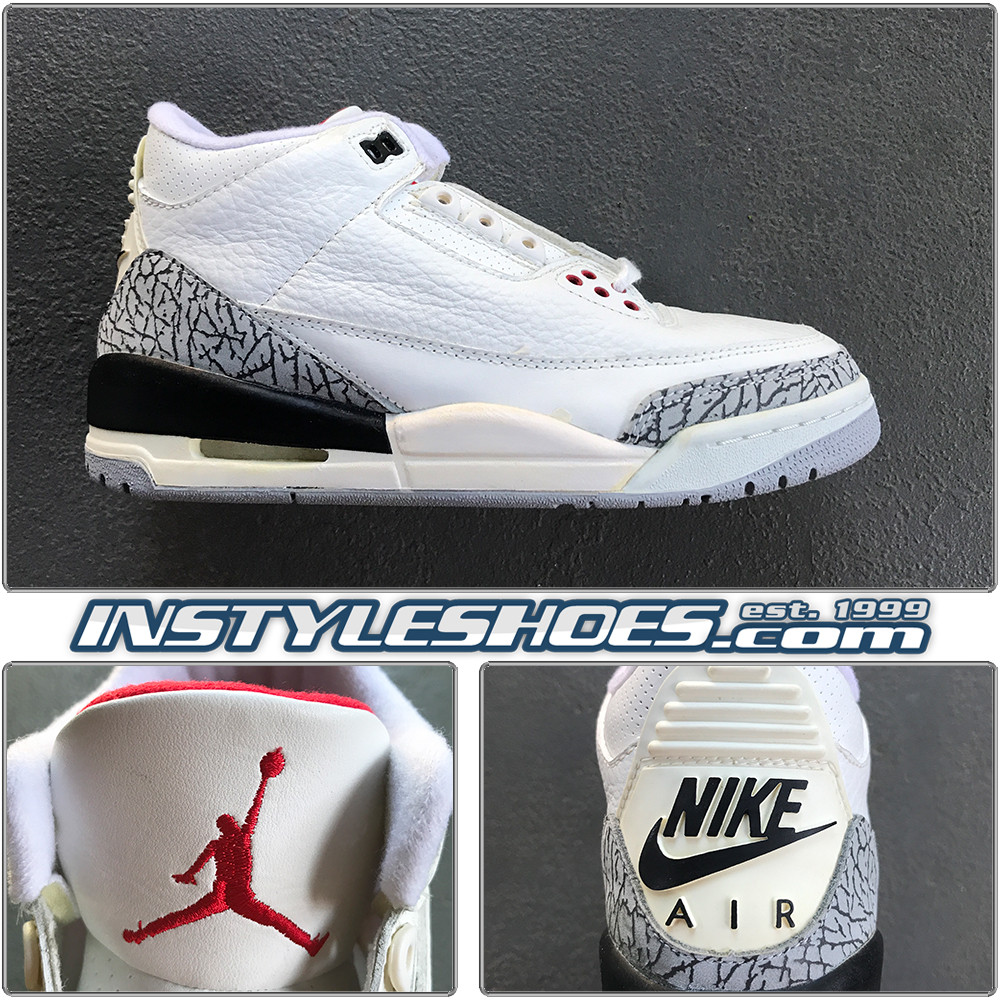 new product a01f3 6df92 Air Jordan 3 1994 White Cement 130203-101