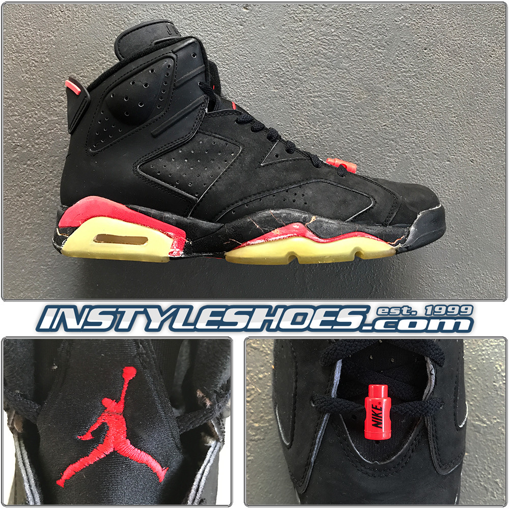 buy online 318e2 8a5bc Air Jordan 6 Black Infrared OG 4391
