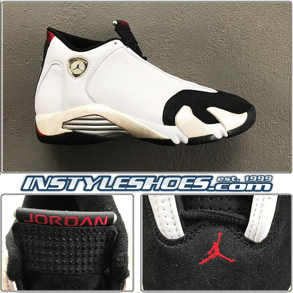 on sale 76ab2 4d4f5 Nike Air Jordan XIV 14 Black Toe White Black 1998 136011-101