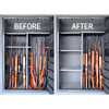 Gun Storage Solutions Before & After with Rifle Rods