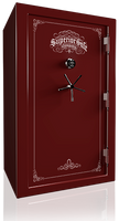Superior Regal 35 Gun Safe in Burgundy with black chrome