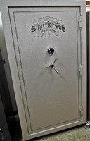 Superior Ironside 45 Safe in Sandstone with chrome trim