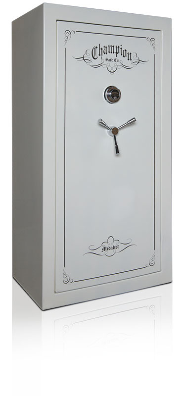 Champion Medalist Gun Safe in Ivory with black chrome