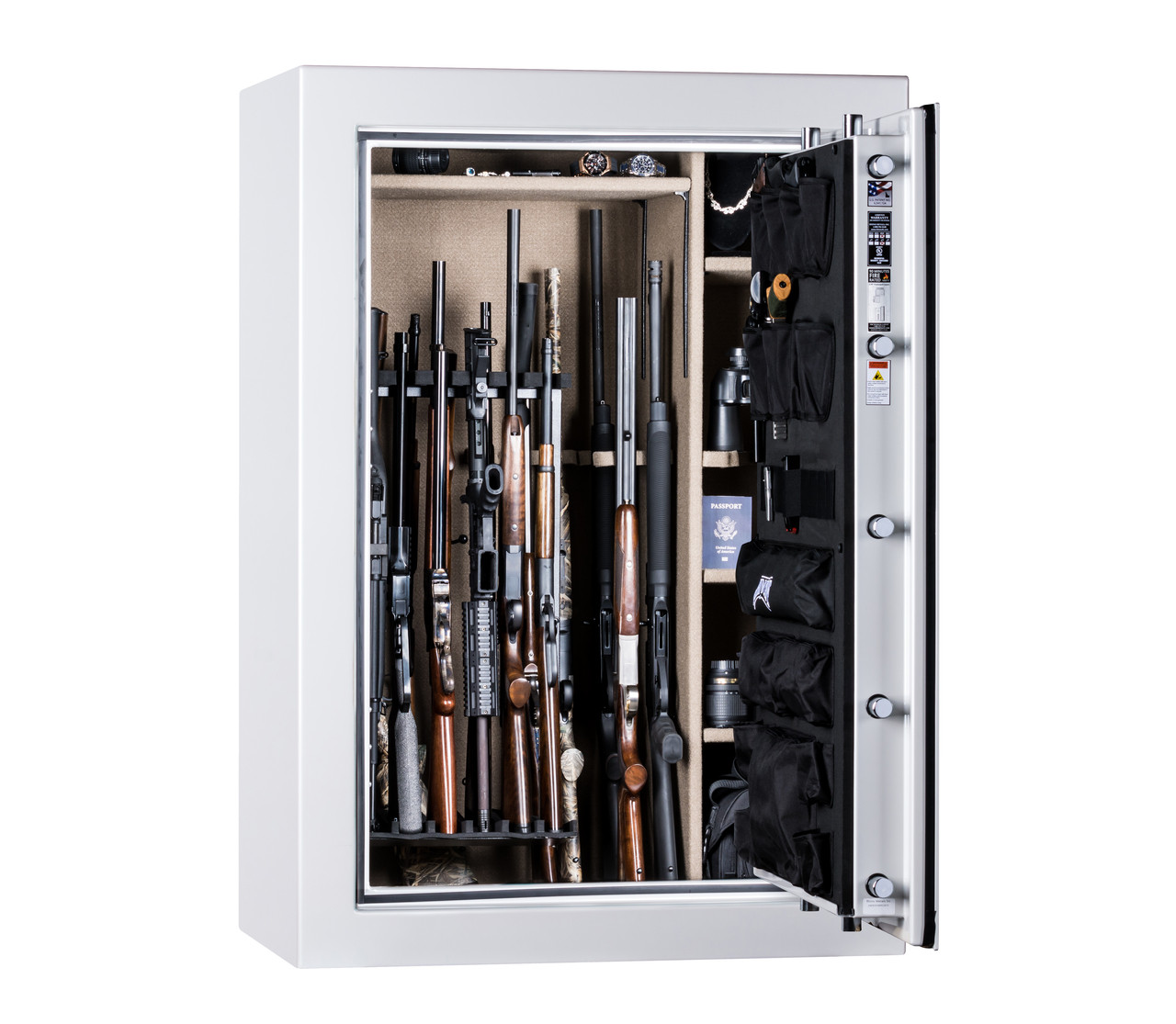 Rhino Supreme A Series Gun Safe Opened in Pearl White